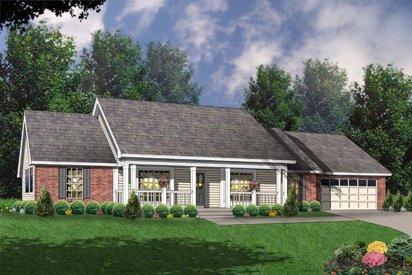 Ranch House Plan 77042 Elevation