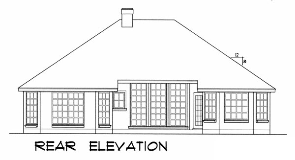 Traditional House Plan 77043 Rear Elevation