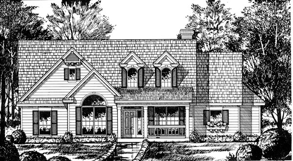 Cape Cod Country House Plan 77047 Elevation