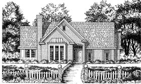 Traditional House Plan 77051 Elevation