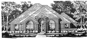 European House Plan 77056 Elevation