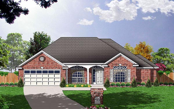 Traditional House Plan 77059 Elevation