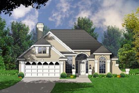 Traditional House Plan 77061 Elevation