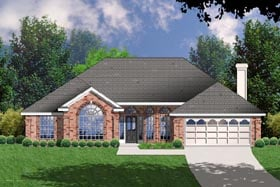 European Traditional House Plan 77062 Elevation