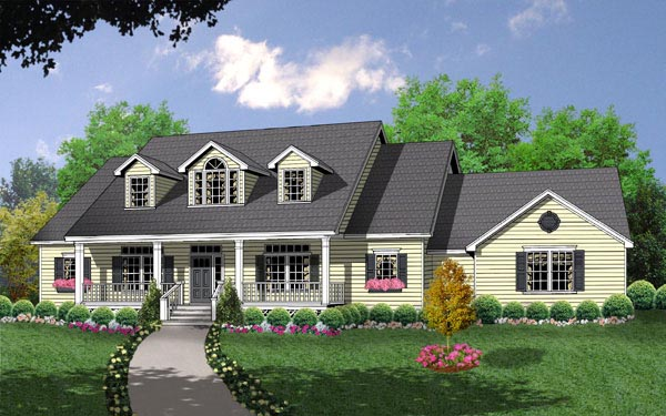 Country House Plan 77063 Elevation