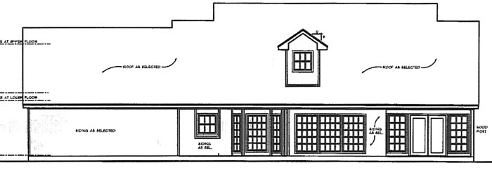 Country House Plan 77063 Rear Elevation
