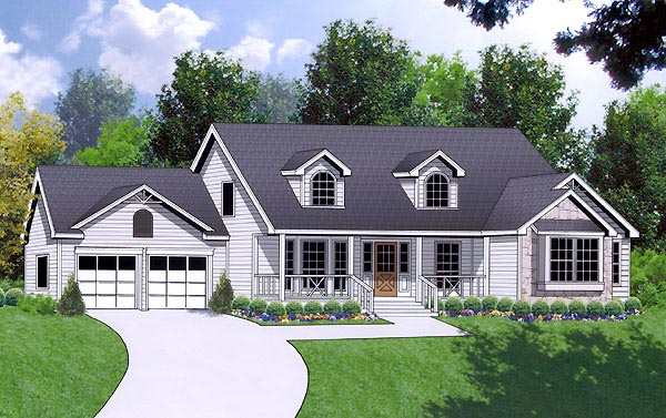 Ranch Traditional House Plan 77064 Elevation