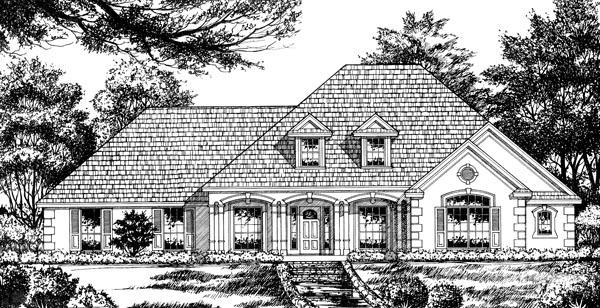 European House Plan 77065 Elevation