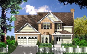 Traditional House Plan 77069 Elevation