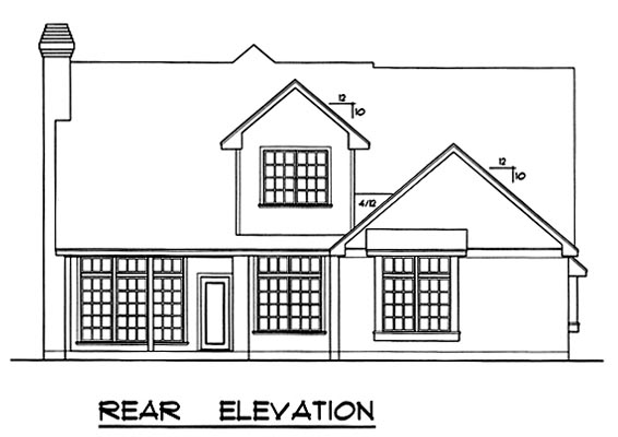 Traditional House Plan 77069 Rear Elevation
