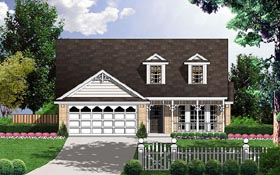 Traditional House Plan 77070 Elevation
