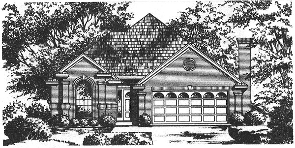 Traditional House Plan 77071 Elevation