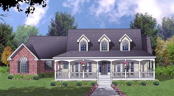 Country House Plan 77075 Elevation