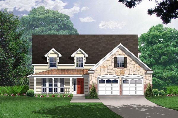 Country House Plan 77077 Elevation