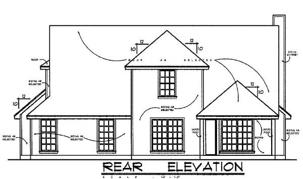 Country House Plan 77077 Rear Elevation