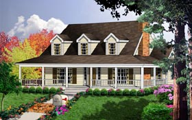 Country House Plan 77078 Elevation