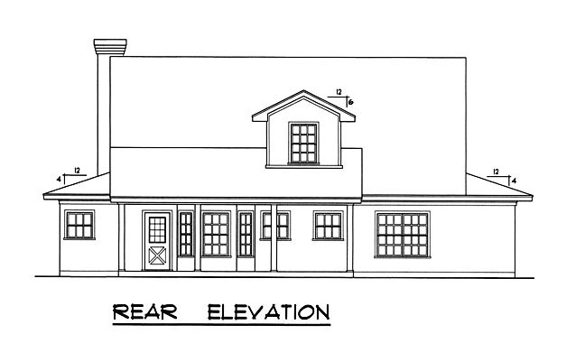 Country House Plan 77078 Rear Elevation