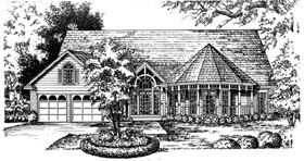 Country Victorian House Plan 77079 Elevation