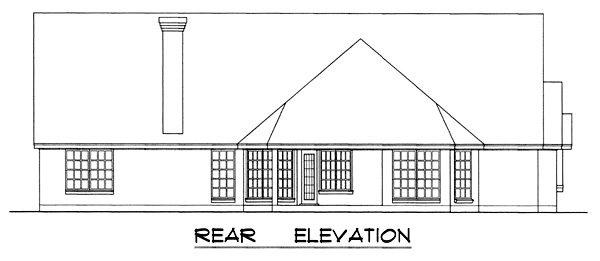 Country Victorian House Plan 77079 Rear Elevation