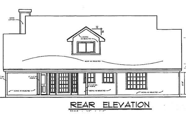 Country House Plan 77080 Rear Elevation