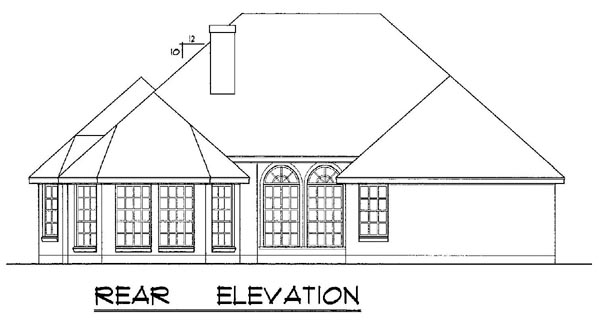 European House Plan 77082 Rear Elevation
