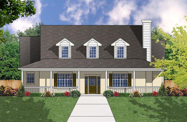 Country Farmhouse House Plan 77084 Elevation