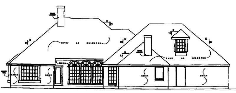 European House Plan 77085 Rear Elevation