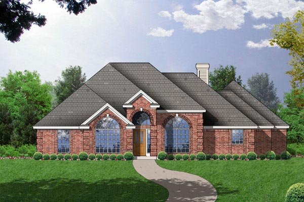 European House Plan 77088 Elevation