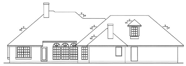 European House Plan 77089 Rear Elevation
