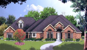 House Plan 77091 | European Style Plan with 2316 Sq Ft, 4 Bedrooms, 2.5 Bathrooms, 3 Car Garage Elevation