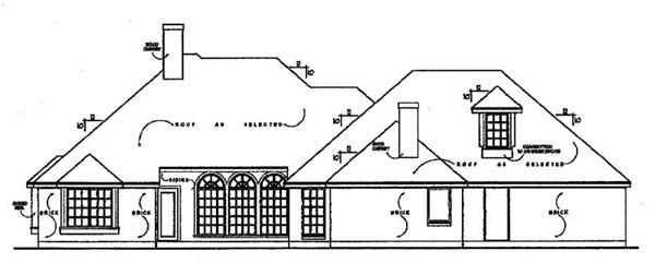 European House Plan 77091 Rear Elevation