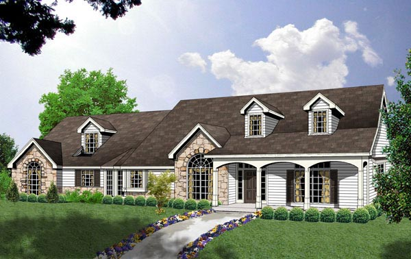 Country Traditional House Plan 77092 Elevation
