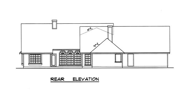 Country Traditional House Plan 77092 Rear Elevation