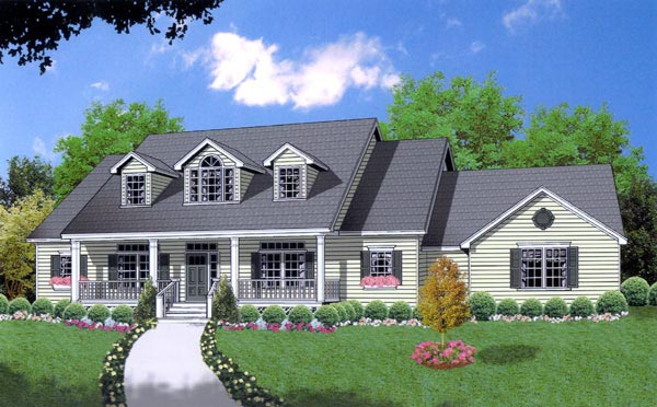 Country House Plan 77093 Elevation