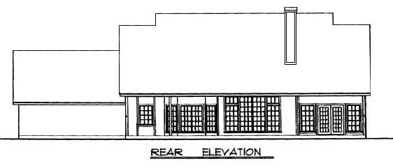 Country House Plan 77093 Rear Elevation