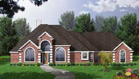 European House Plan 77094 with 4 Beds, 2.5 Baths, 2 Car Garage Elevation