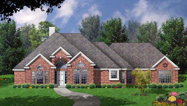 House Plan 77096 | European Style Plan with 2333 Sq Ft, 4 Bedrooms, 2.5 Bathrooms, 2 Car Garage Elevation