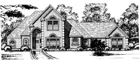 European , Tudor House Plan 77098 with 3 Beds, 3 Baths, 2 Car Garage Elevation