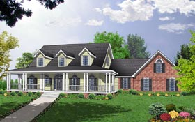 Country House Plan 77102 Elevation