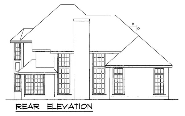 European Mediterranean House Plan 77104 Rear Elevation