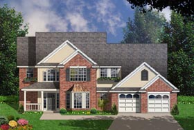 Traditional House Plan 77106 Elevation