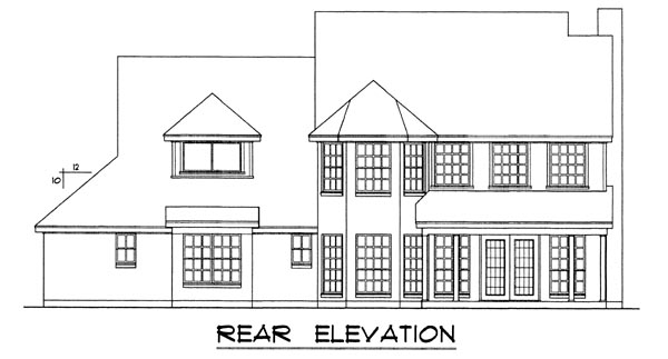 Traditional House Plan 77106 Rear Elevation