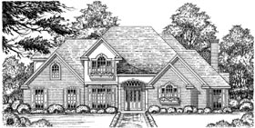 European Traditional House Plan 77107 Elevation