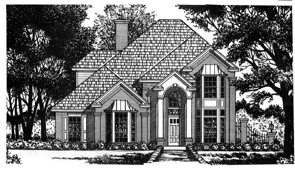 European Victorian House Plan 77108 Elevation