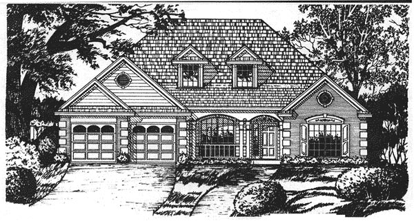 Traditional House Plan 77109 Elevation