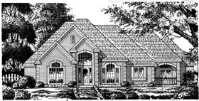 European , Traditional House Plan 77111 with 4 Beds, 3 Baths, 2 Car Garage Elevation