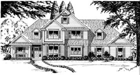 Traditional House Plan 77113 with 3 Beds, 2.5 Baths, 2 Car Garage Elevation