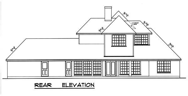 European Victorian House Plan 77114 Rear Elevation