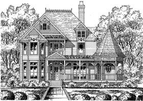 House Plan 77115 with 4 Beds, 3.5 Baths Elevation