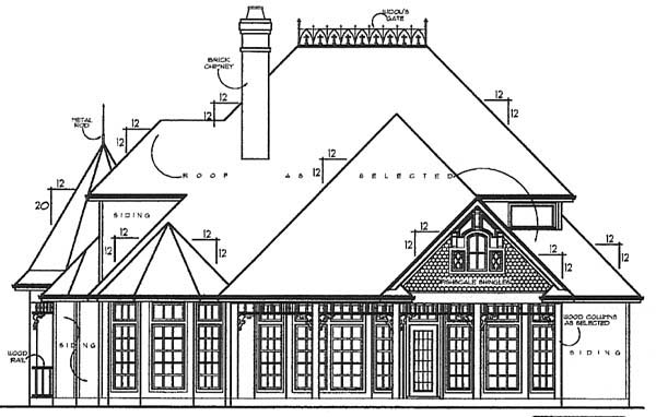 House Plan 77115 Rear Elevation